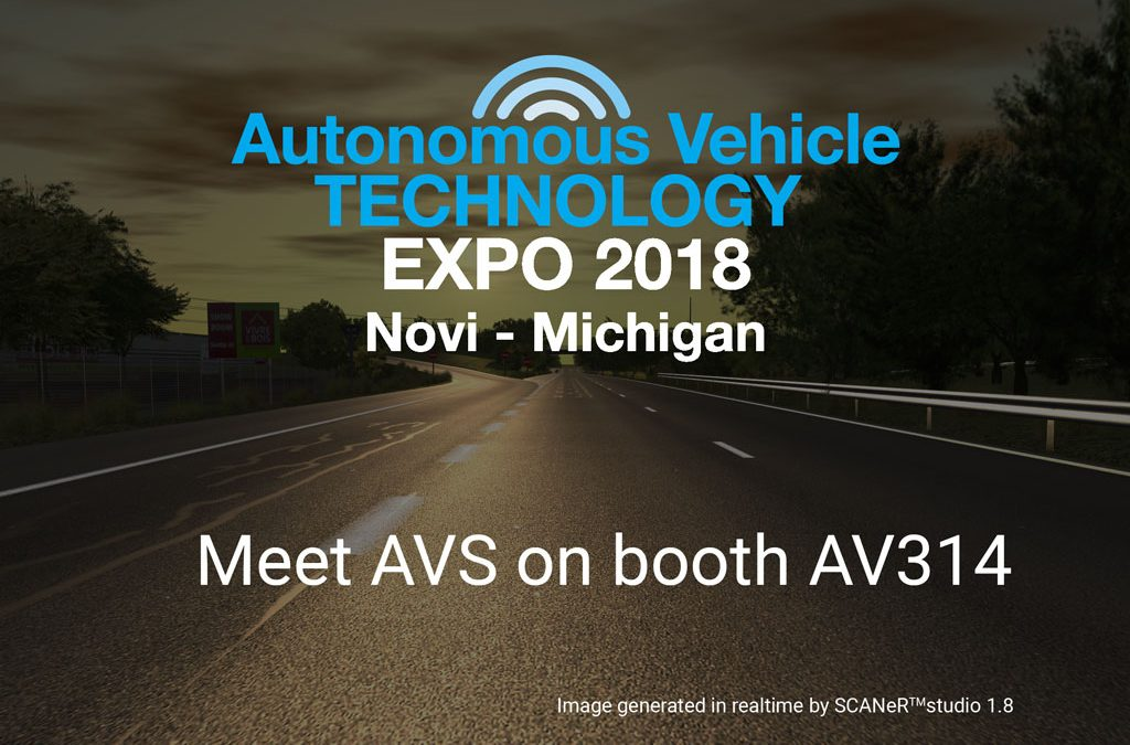 Meet AVSimulation at Autonomous Vehicle Technology Expo 2018 in Detroit