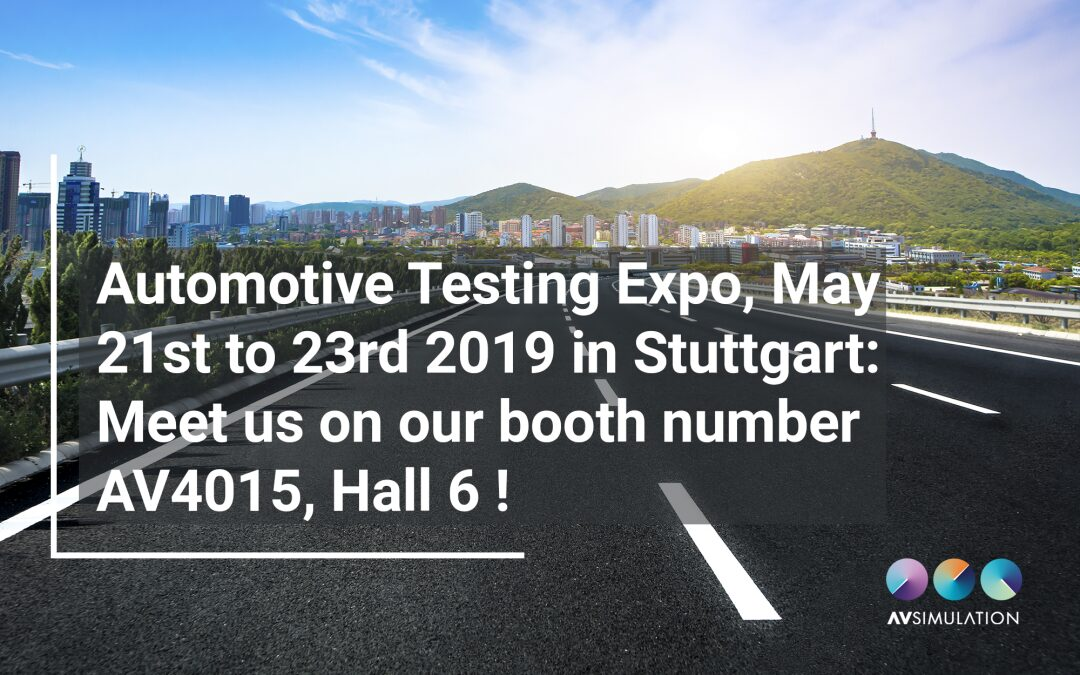 Meet AVSimulation at Automotive Testing Expo 2019 in Stuttgart