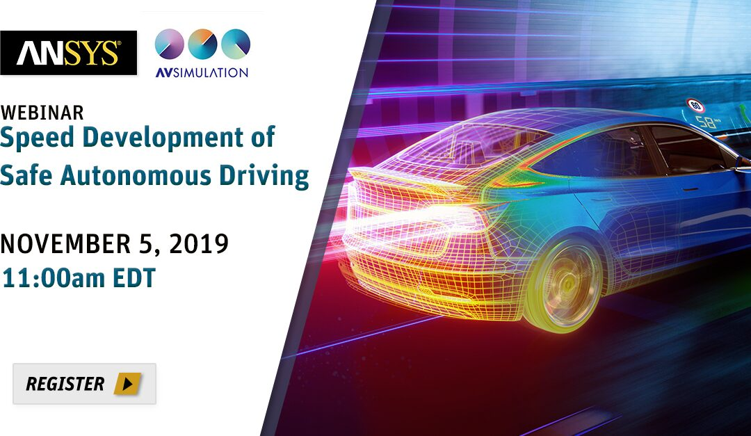 Webinar – Speed Development of Safe Autonomous Driving