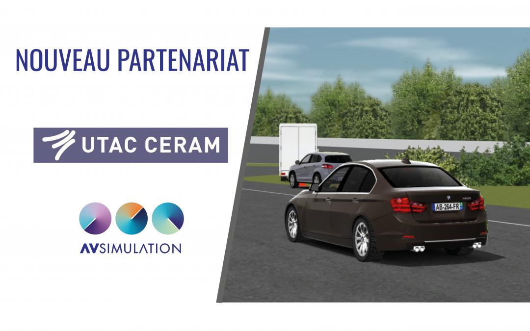 La simulation des essais règlementaires et Euro NCAP est maintenant disponible grâce à AVSimulation et UTAC CERAM