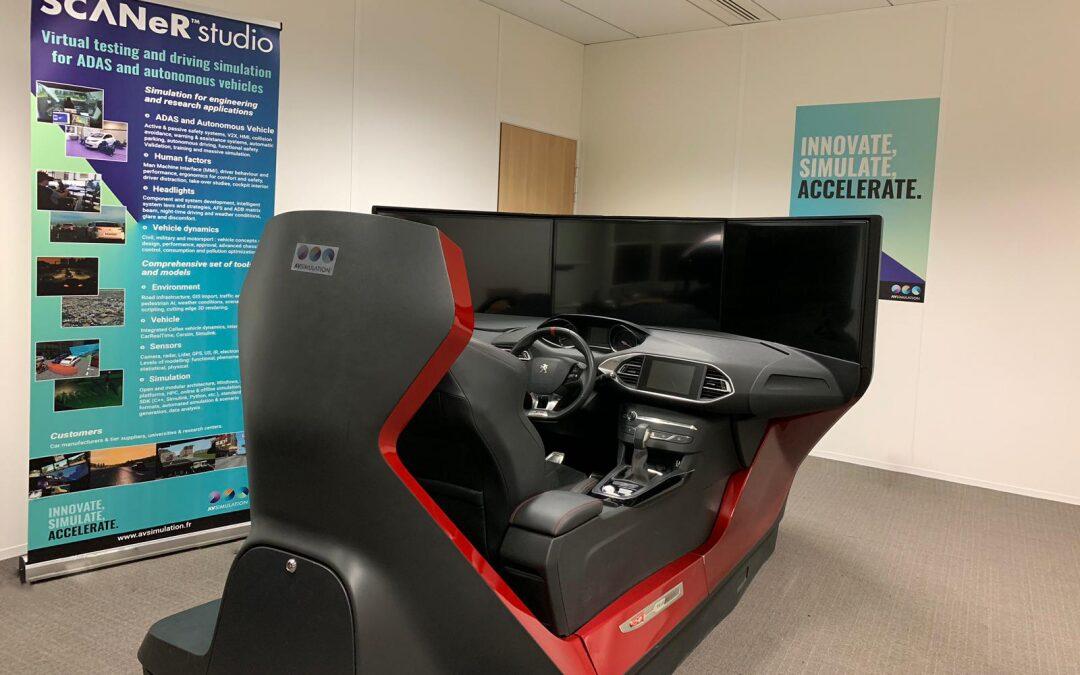Le simulateur Peugeot chez AVSimulation